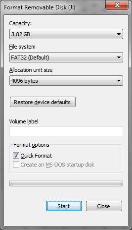 how to install windows 7 with a usb drive